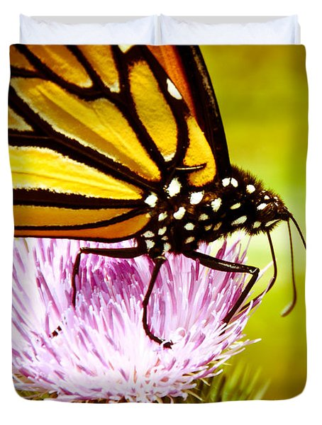 Busy Butterfly Duvet Cover by Cheryl Baxter