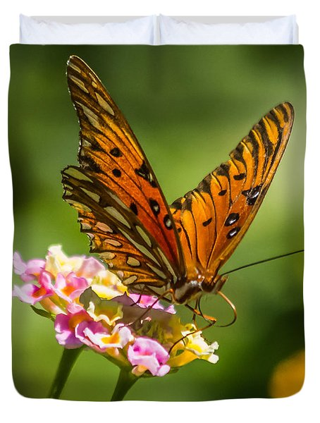 Busy Butterfly Duvet Cover by Jane Luxton