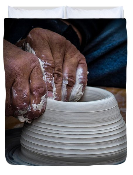 Busy Hands Duvet Cover