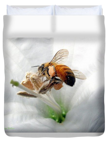 Busy Duvet Cover by Joyce Dickens