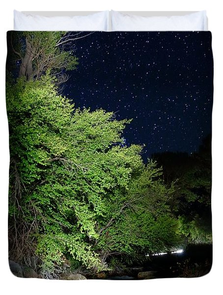 Duvet Cover featuring the photograph Busy Night by David Andersen