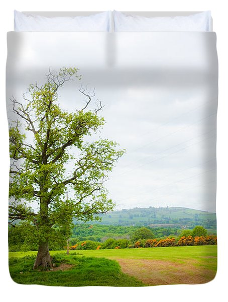 But Only God Can Make A Tree Duvet Cover by Semmick Photo