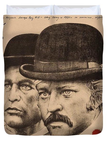 Butch Cassidy And The Sundance Kid Duvet Cover by Movie Poster Prints