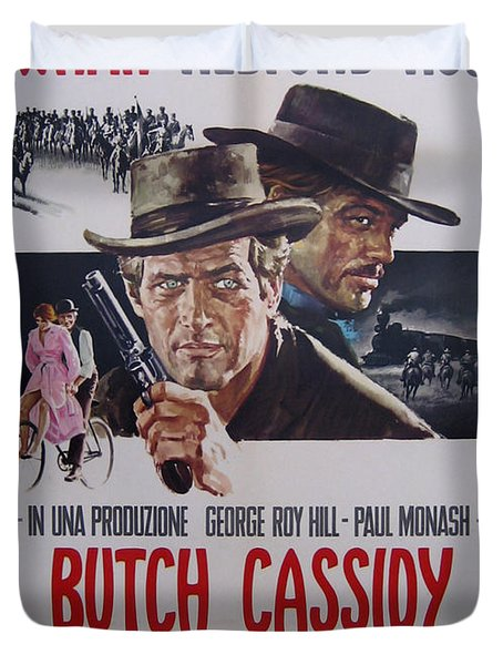 Butch Cassidy And The Sundance Kid Duvet Cover by Georgia Fowler