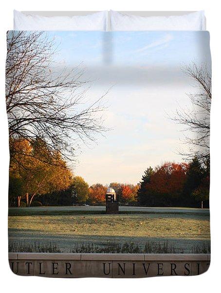 Butler University Mall Duvet Cover by Dan McCafferty