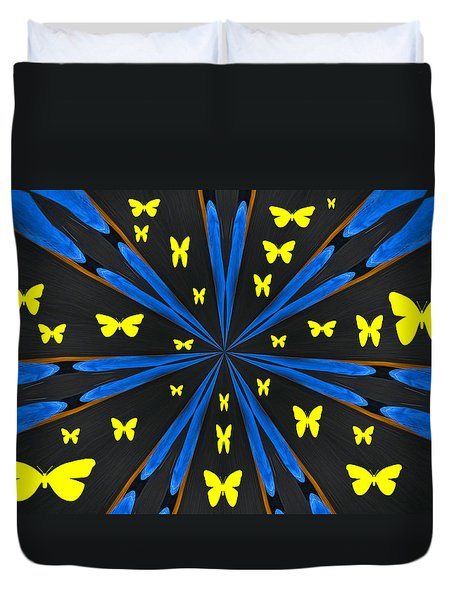 Butterflies Galore Duvet Cover by Karol Livote