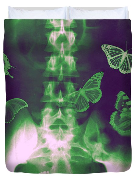 Butterflies In The Stomach Duvet Cover