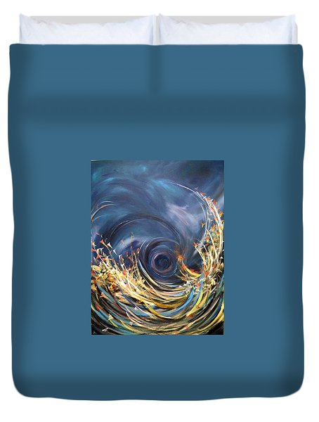 Duvet Cover featuring the painting Butterflies Migration by Dorothy Maier
