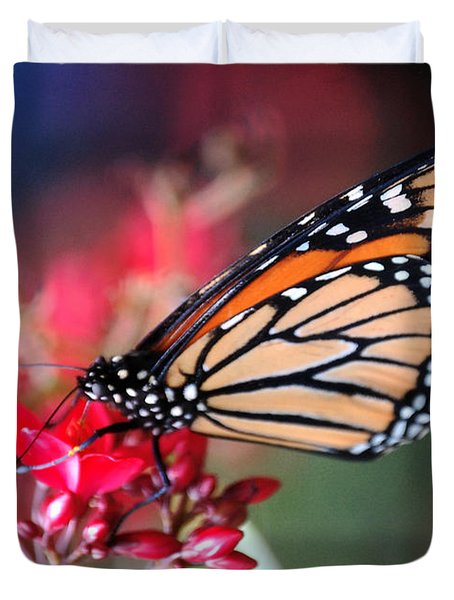 Duvet Cover featuring the photograph Butterfly 2 by Leticia Latocki