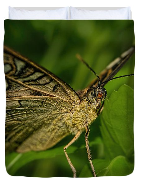 Duvet Cover featuring the photograph Butterfly 2 by Olga Hamilton