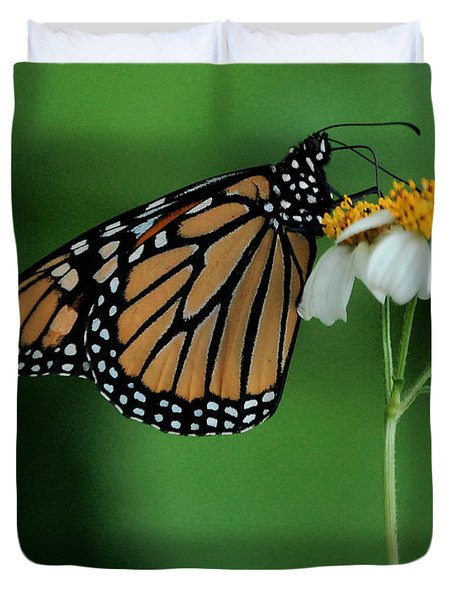 Duvet Cover featuring the photograph Butterfly 3 by Leticia Latocki