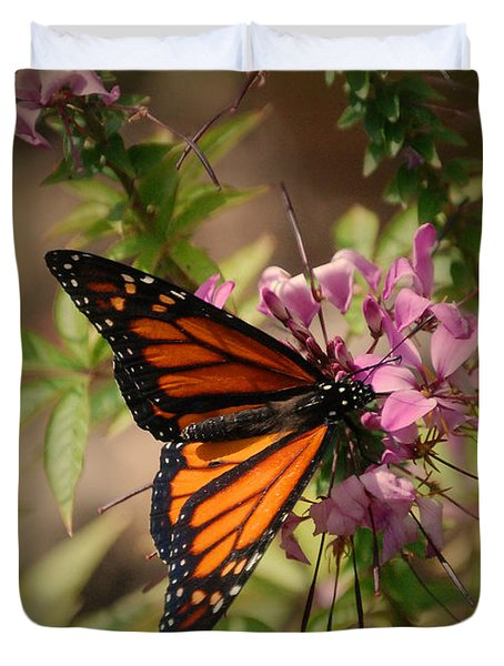Duvet Cover featuring the photograph Butterfly 5 by Leticia Latocki