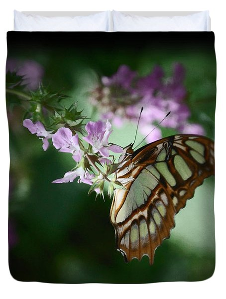 Duvet Cover featuring the photograph Butterfly 7 by Leticia Latocki