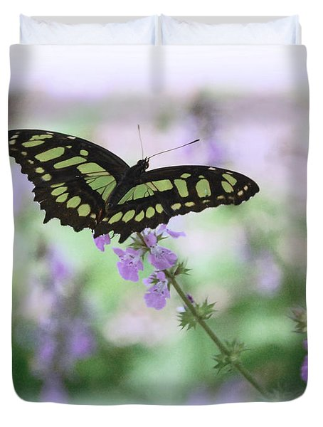 Duvet Cover featuring the photograph Butterfly 8 by Leticia Latocki