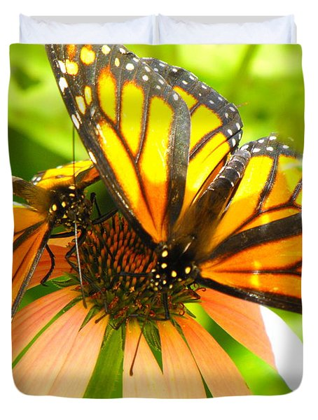 Butterfly And Friend Duvet Cover