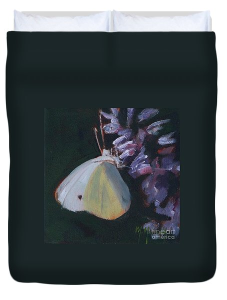 Butterfly And Lavender Duvet Cover