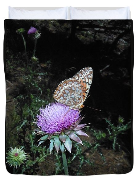 Butterfly At Peace Duvet Cover