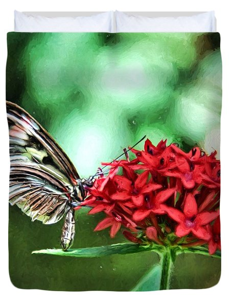 Duvet Cover featuring the photograph Butterfly by Bill Howard