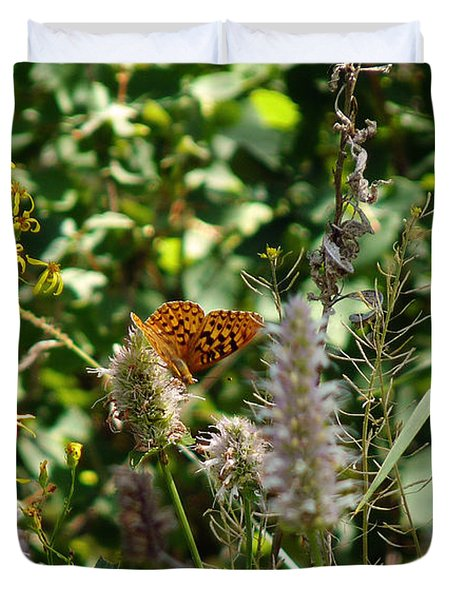 Duvet Cover featuring the photograph Butterfly Buffet by Meghan at FireBonnet Art