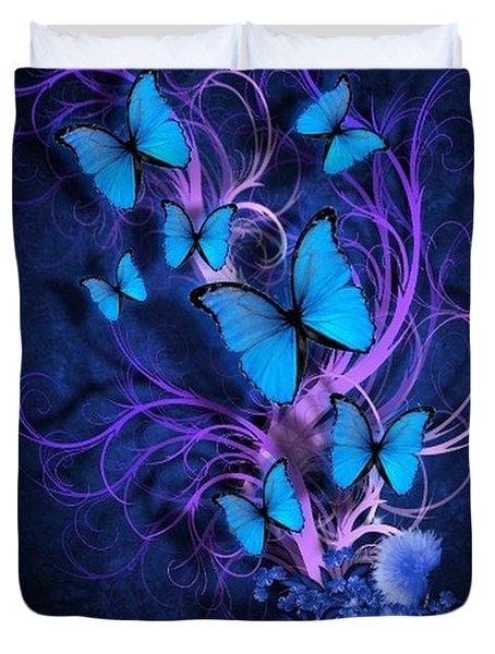 Butterfly Burst Duvet Cover