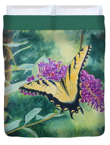 Butterfly Bush Duvet Cover