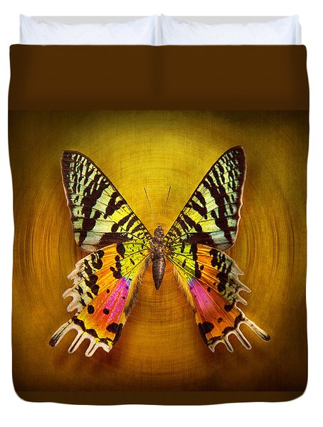 Butterfly - Butterfly Of Happiness  Duvet Cover by Mike Savad