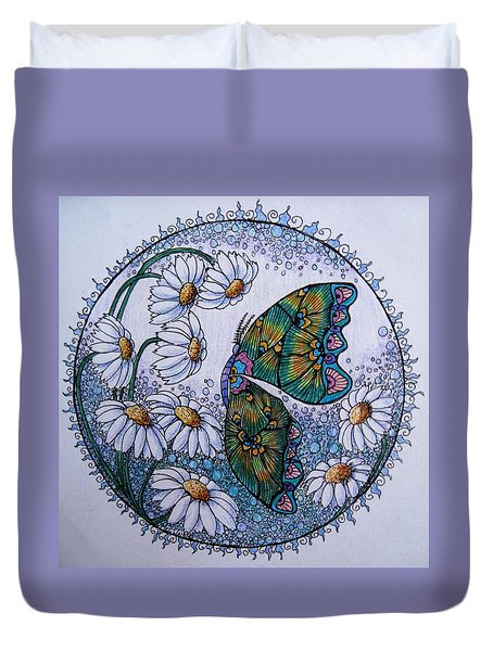 Butterfly Circle Duvet Cover by Megan Walsh