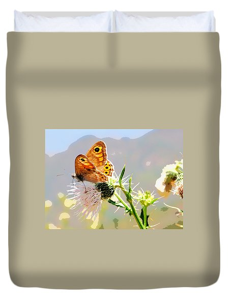 Butterfly Collect Juice  Duvet Cover