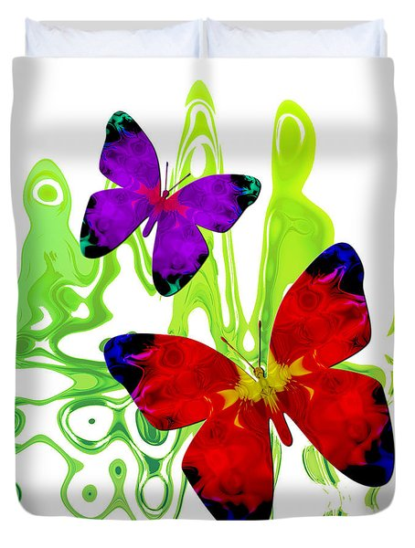 Butterfly Duet - Harmony Duvet Cover