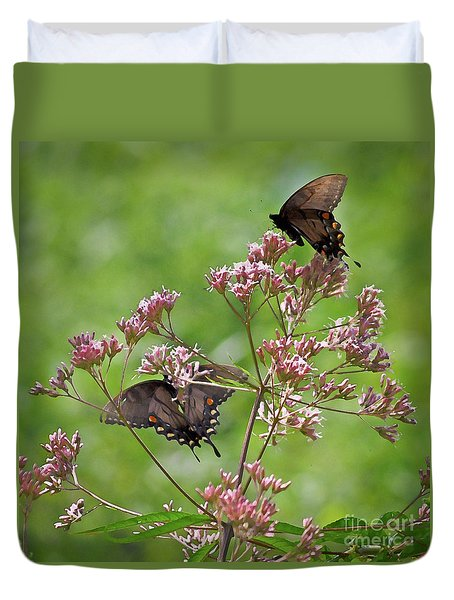 Butterfly Duet  Duvet Cover by Kerri Farley