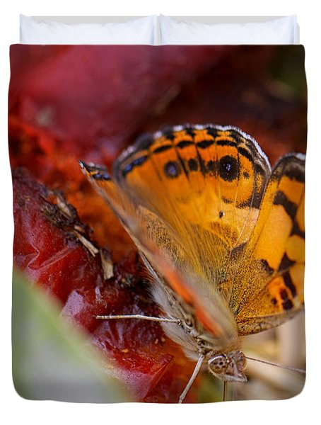 Duvet Cover featuring the photograph Butterfly by Erika Weber