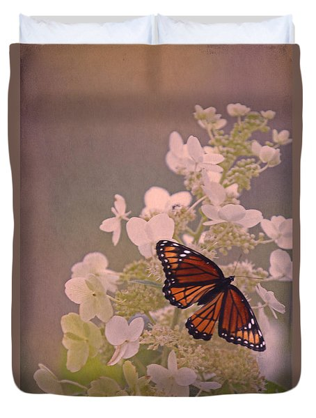 Butterfly Glow Duvet Cover by Elizabeth Winter