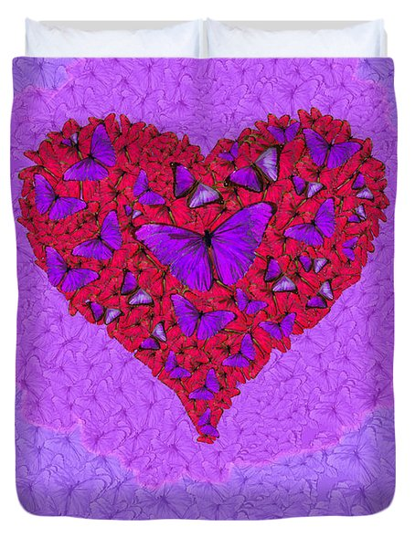 Butterfly Heart Duvet Cover by Alixandra Mullins