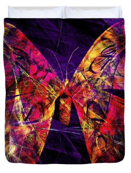 Butterfly In Abstract Dsc2977 Square Duvet Cover