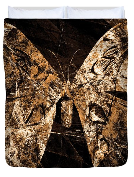 Butterfly In Abstract Dsc2977or Square Duvet Cover