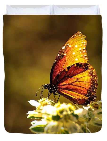 Butterfly In Sun Duvet Cover