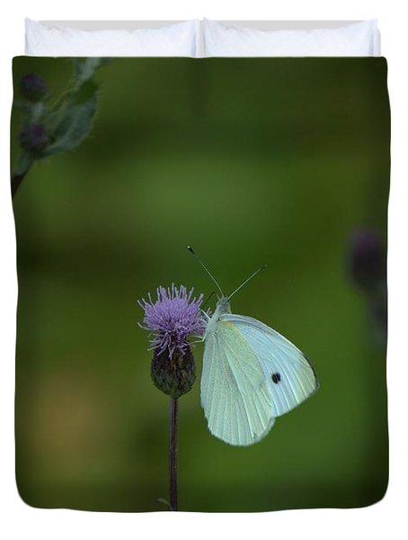 Butterfly In White 2 Duvet Cover