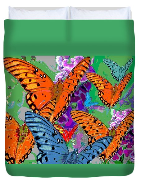 Butterfly Joy Duvet Cover by Mary Armstrong