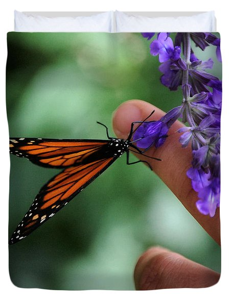 Duvet Cover featuring the photograph Butterfly by Leticia Latocki