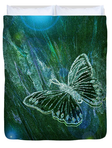 Butterfly Magic By Jrr Duvet Cover by First Star Art