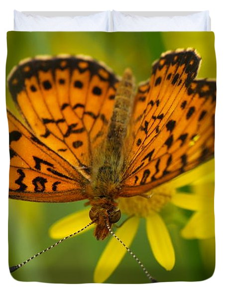 Duvet Cover featuring the photograph Butterfly by James Peterson