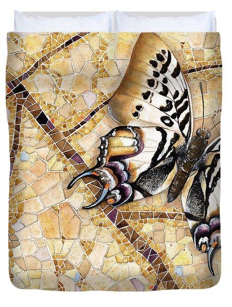 Butterfly Mosaic 01 Elena Yakubovich Duvet Cover