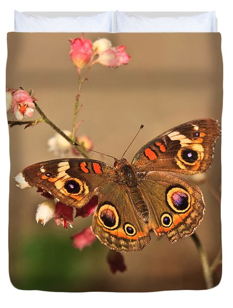 Butterfly On Pink Duvet Cover