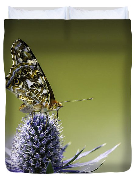 Butterfly On Thistle Duvet Cover