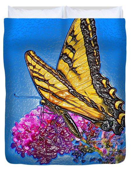 Duvet Cover featuring the photograph Butterfly by Patrick Witz