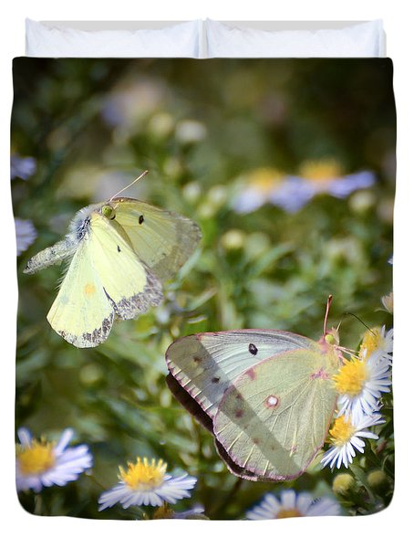 Butterfly Moments  Duvet Cover by Kerri Farley