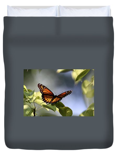 Butterfly -  Soaking Up The Sun Duvet Cover by Travis Truelove