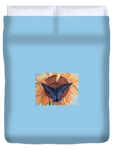 Butterfly Sunday Up-close Duvet Cover