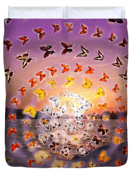 Butterfly Sunset Duvet Cover