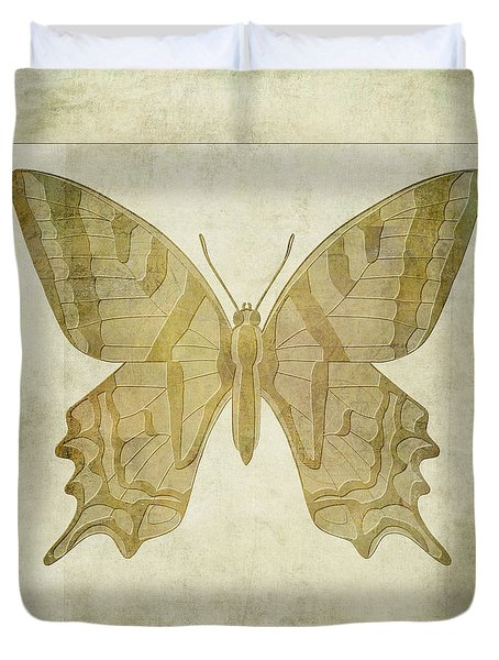 Butterfly Textures Duvet Cover by John Edwards
